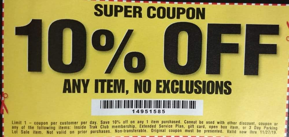 Harbor Freight 10 percent off coupon