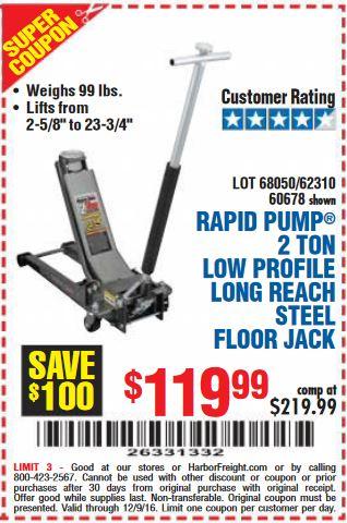 Low profile low reach HF Floor Jack coupon - LS1TECH ...