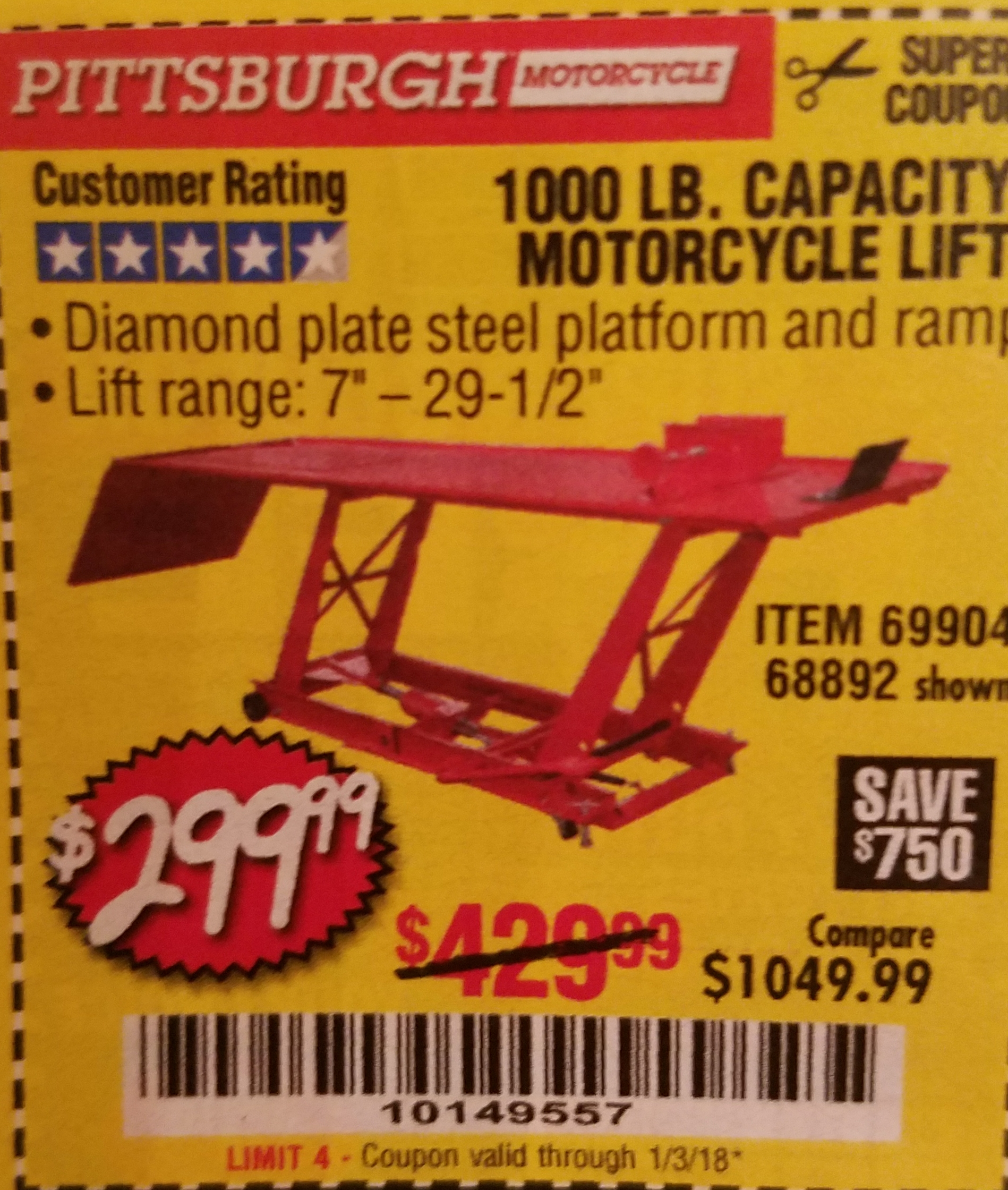 Lift coupon code