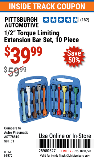 Harbor Freight 10 PIECE 1/2