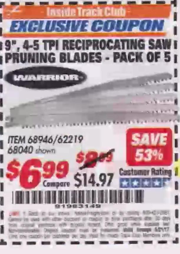 Harbor freight reciprocating saw 19.99 coupon