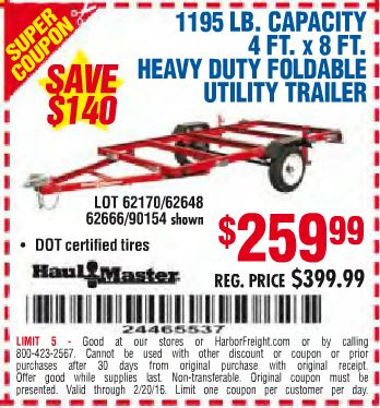 Harbor freight coupons trailer