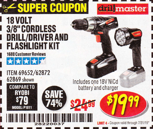 Harbor Freight 18 VOLT CORDLESS 3/8
