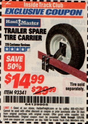 www.hfqpdb.com - TRAILER SPARE TIRE CARRIER Lot No. 93341