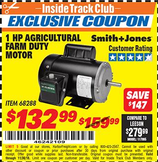www.hfqpdb.com - 1 HP FARM DUTY AGRICULTURAL MOTOR Lot No. 68288
