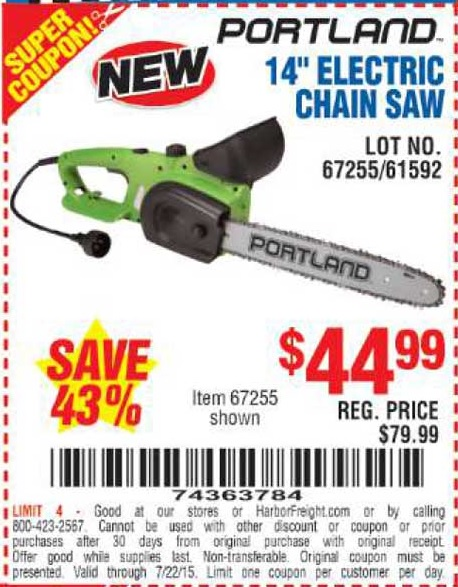 Item Electric Chain Saw on Harbor Freight Electric Hoist With Remote Control