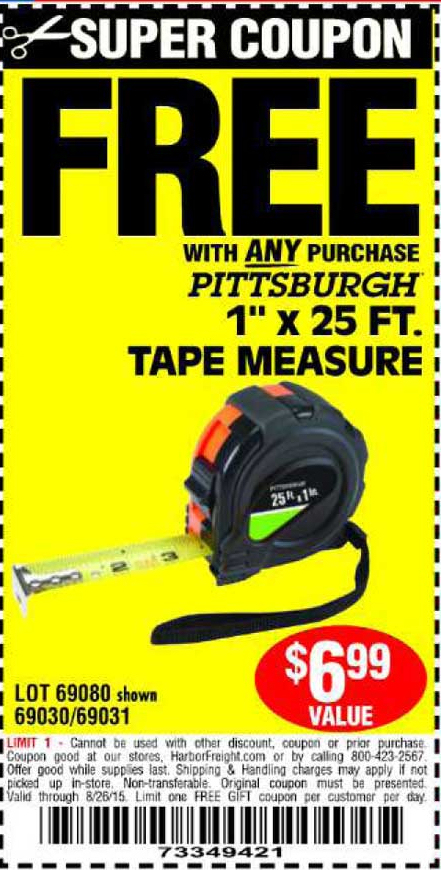 harbor freight free tape measure