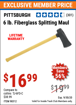 Harbor Freight 6 LB SPLITTING MAUL WITH 30