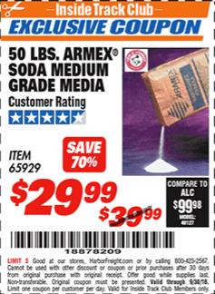 www.hfqpdb.com - 50 LB. ARMEX SODA MEDIUM GRADE MEDIA Lot No. 65929