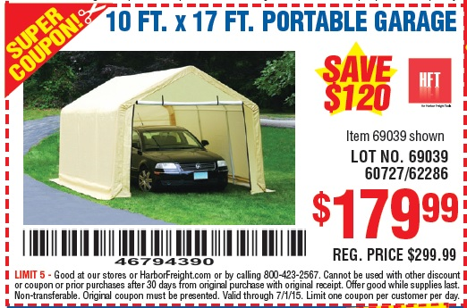 Harbor Freight Portable Garage Anchoring : Harbor freight portable garage bing images