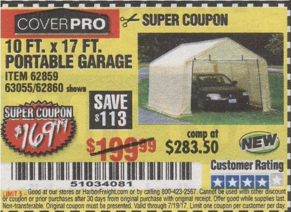 Harbor Freight Portable Garage Coupon : Harbor freight tools coupon database free coupons