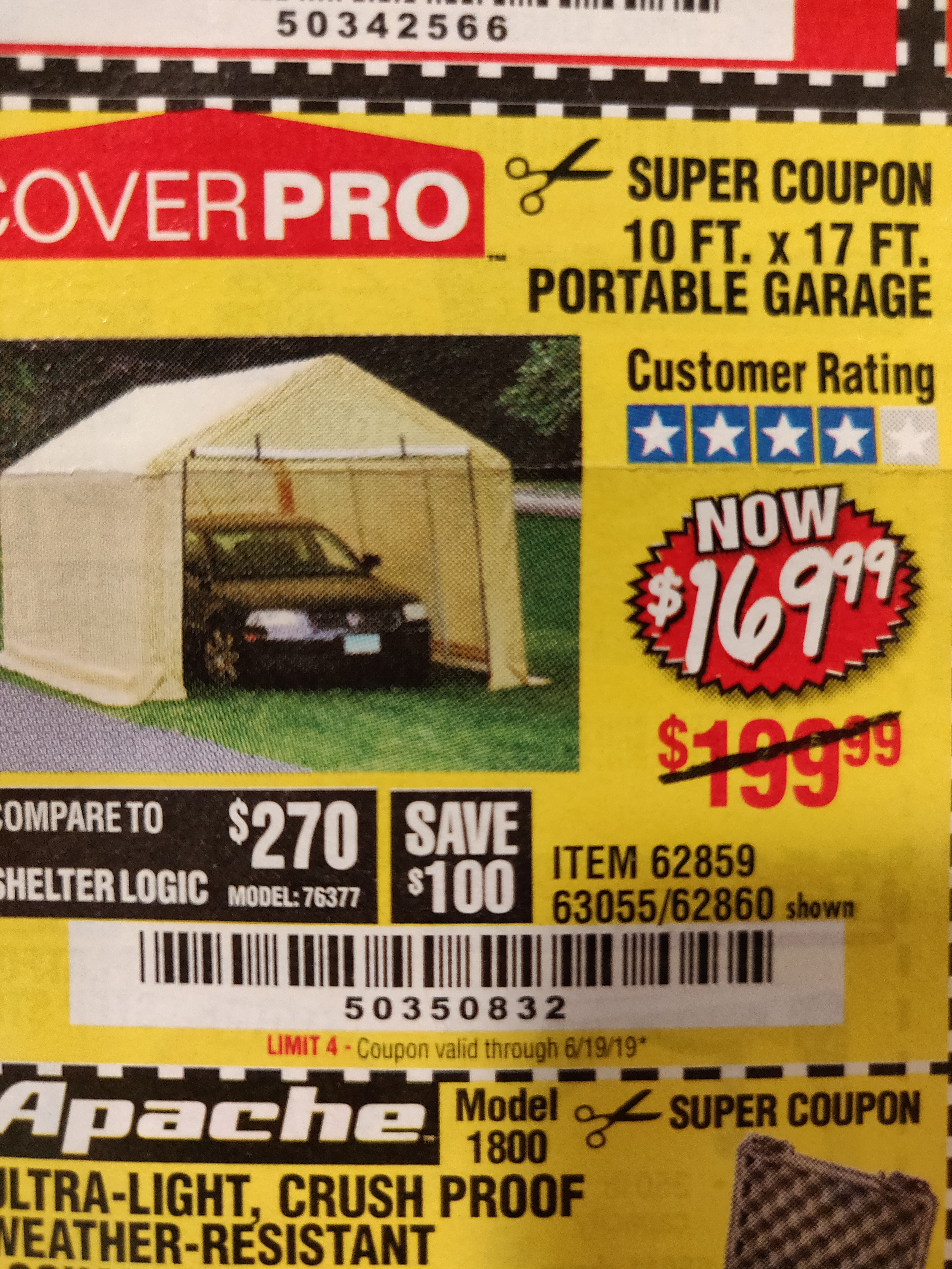 www.hfqpdb.com - 10 FT. x 17 FT. PORTABLE GARAGE Lot No. 69039/60727/62286/62860/63055/62864/62859