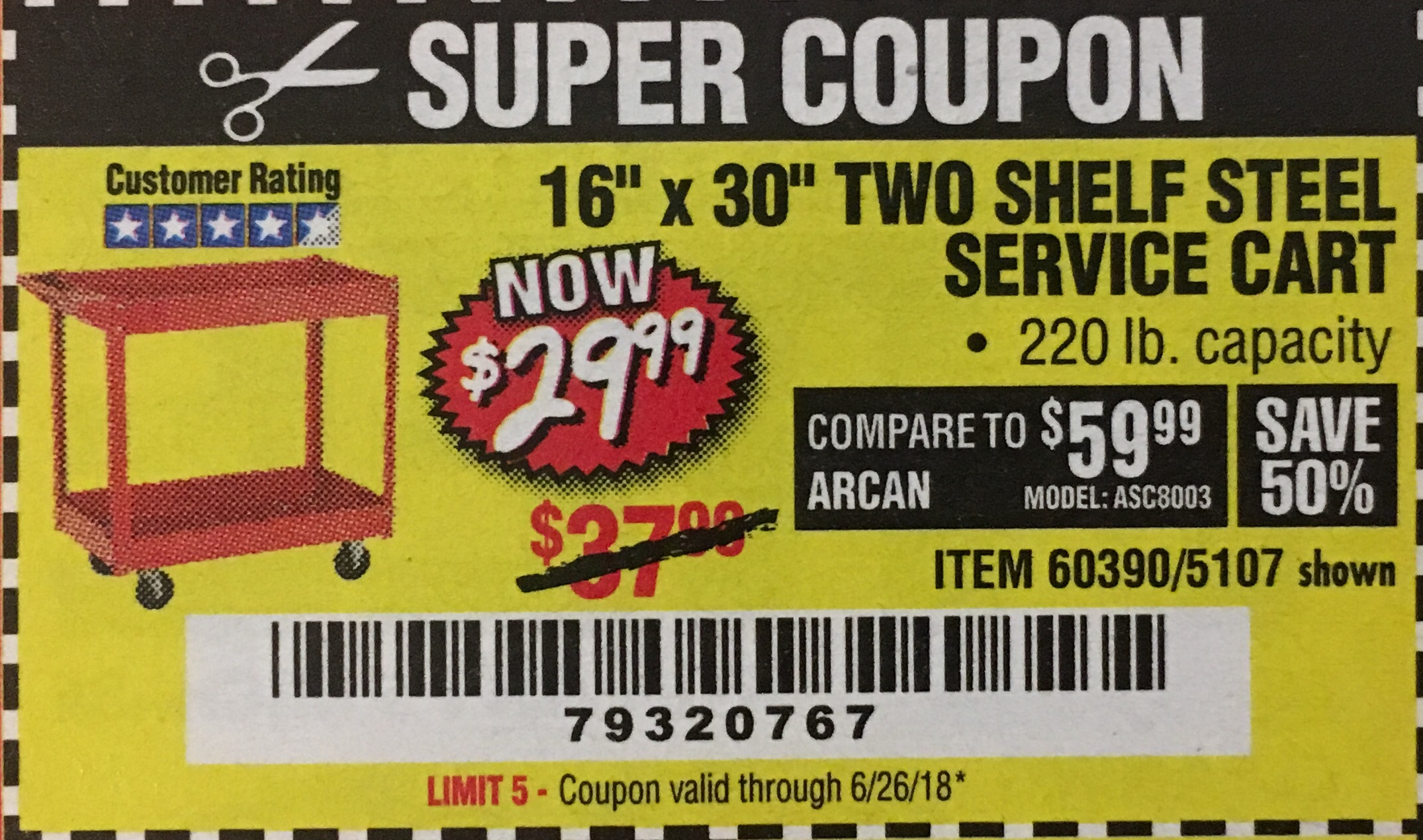Discount steel coupon