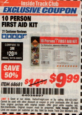 www.hfqpdb.com - 10 PERSON FIRST AID KIT Lot No. 68681