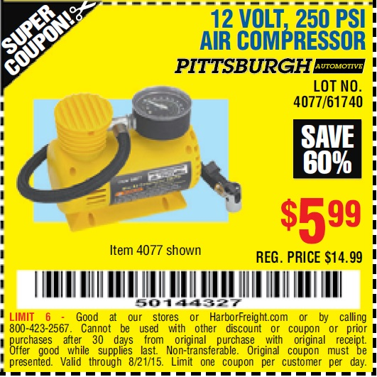 Amazing Harbor Freight 12 Volt Air Compressor Coupon High End Sunglasses Wiring Digital Resources Lavecompassionincorg