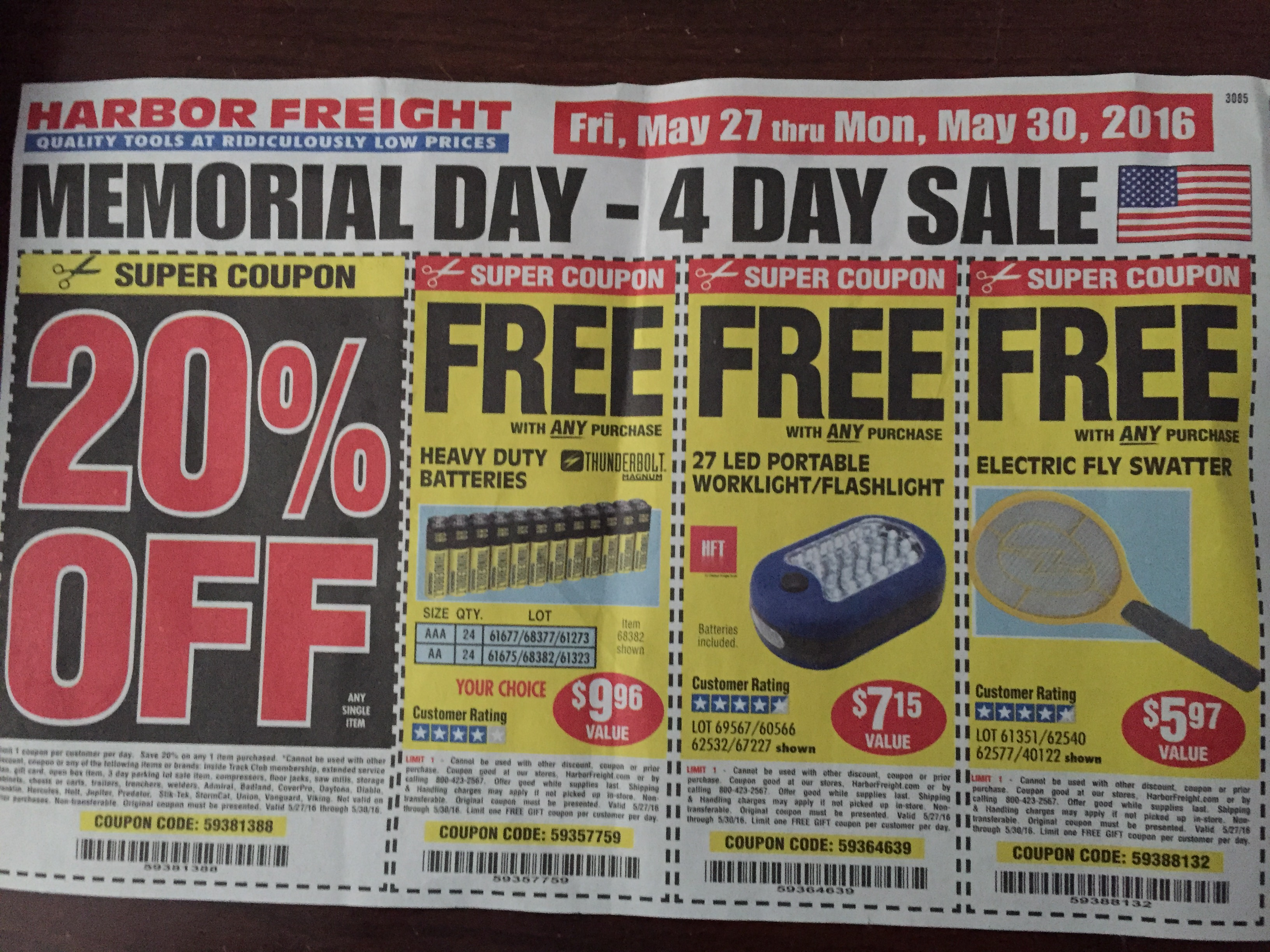 Duty free coupons