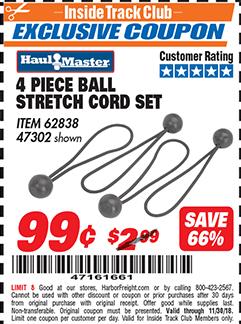 www.hfqpdb.com - 4 PIECE BALL STRETCH CORD SET Lot No. 62838/47302