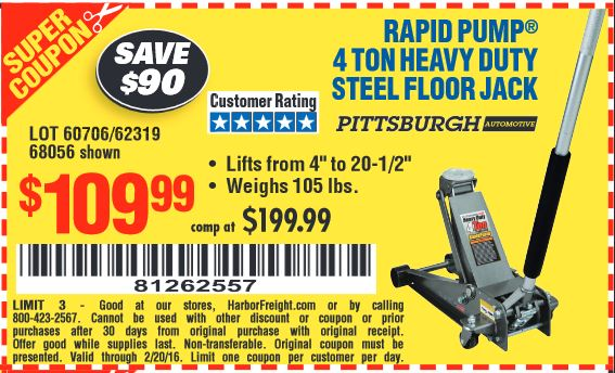 Harbor freight 2 ton floor jack coupon - Best cb deals fifa 15