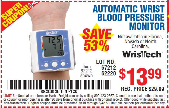 Ormon Home Blood Pressure Monitor November Time to save big when you buy a Ormon Home Blood Pressure Monitor at Walmart. This deal is for $10 off your purchase of this item.