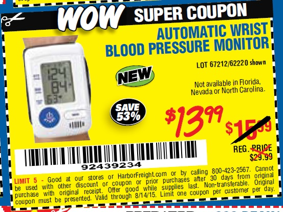 High blood pressure monitor coupons
