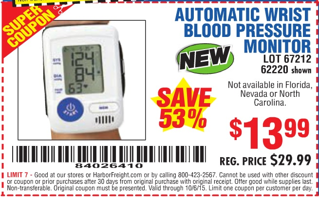 Free Blood Pressure Monitor Coupon