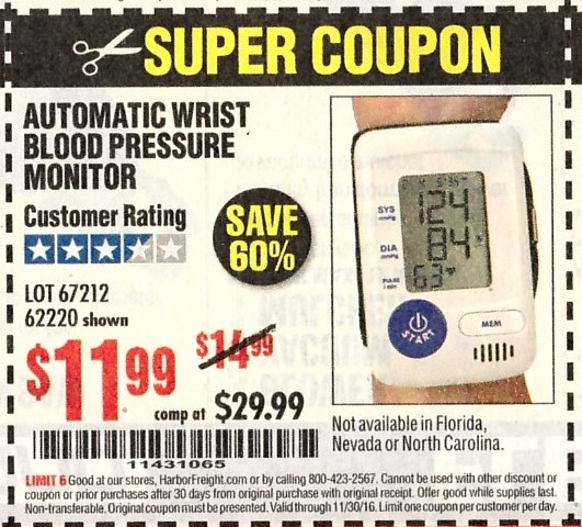 Save $ on ONE (1) Omron Wireless Blood Pressure Monitor Coupon! You can Also Follow Us On Facebook, Twitter, Pinterest and Google+ for 24 hour .