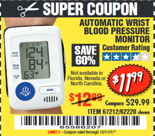 Coupons for blood pressure monitors