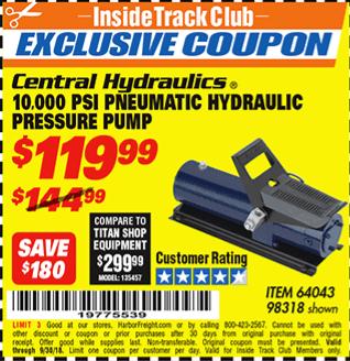 www.hfqpdb.com - 10,000 PSI PNEUMATIC HYDRAULIC PRESSURE PUMP Lot No. 98318