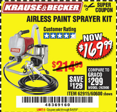www.hfqpdb.com - AIRLESS PAINT SPRAYER KIT Lot No. 62915/60600
