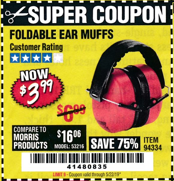 www.hfqpdb.com - FOLDABLE EAR MUFFS Lot No. 94334