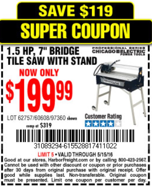 Tile Saw Stand Harbor Freight 28 Images 7 Quot Bridge