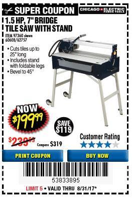 Harbor Freight 1.5 HP, 7