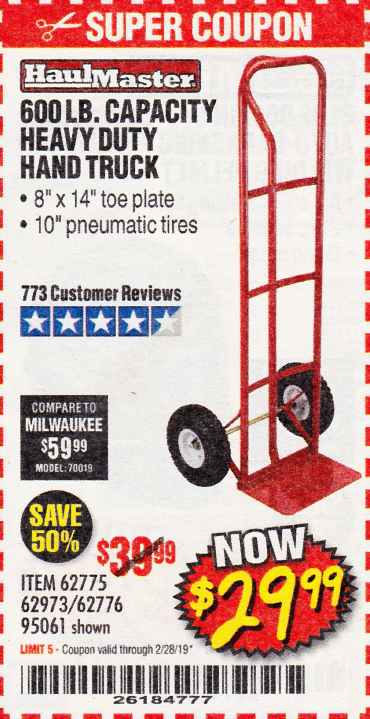 www.hfqpdb.com - HEAVY DUTY HAND TRUCK Lot No. 62775/62776/62973/95061