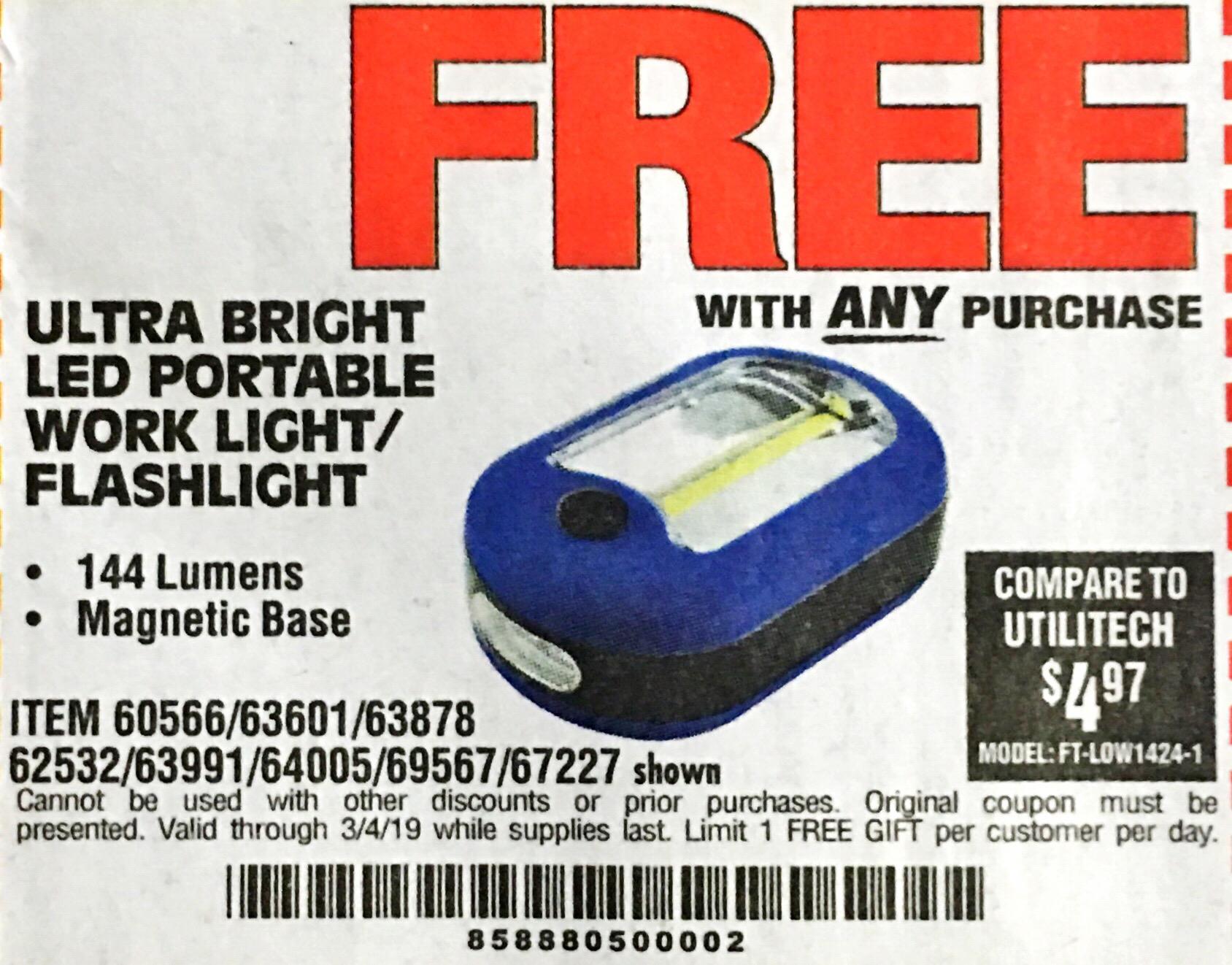 www.hfqpdb.com - LED PORTABLE WORKLIGHT/FLASHLIGHT Lot No. 63878/63991/64005/69567/60566/63601/67227