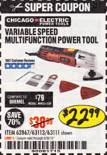 Harbor Freight VARIABLE SPEED MULTIFUNCTION POWER TOOL coupon