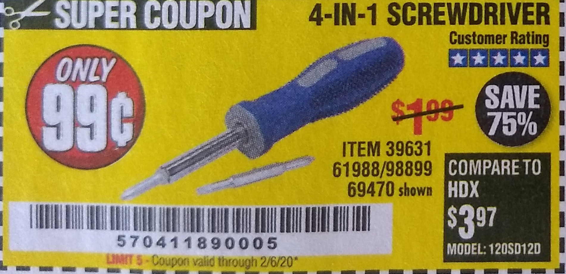 www.hfqpdb.com - 4-IN-1 SCREWDRIVER Lot No. 98899/69470/61988
