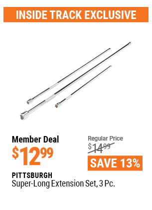 Harbor Freight 3 PIECE SUPER-LONG EXTENSION SET coupon
