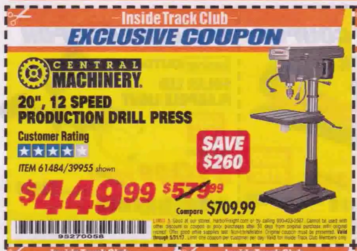 Coupons are never in short supply when it comes to Harbor Freight, and they have just released to two more sets of coupons to help you save on your next purchase at their stores. The first link is good well into June, but the second is only good for one week only. Check out what you can save on today at Harbor.