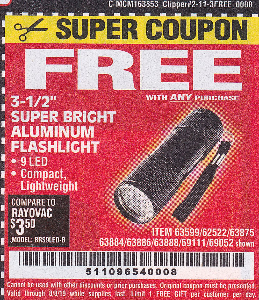 "www.hfqpdb.com - 3-1/2"" SUPER BRIGHT NINE LED ALUMINUM FLASHLIGHT Lot No. 69111/63599/62522/62573/63875/63884/63886/63888/69052"