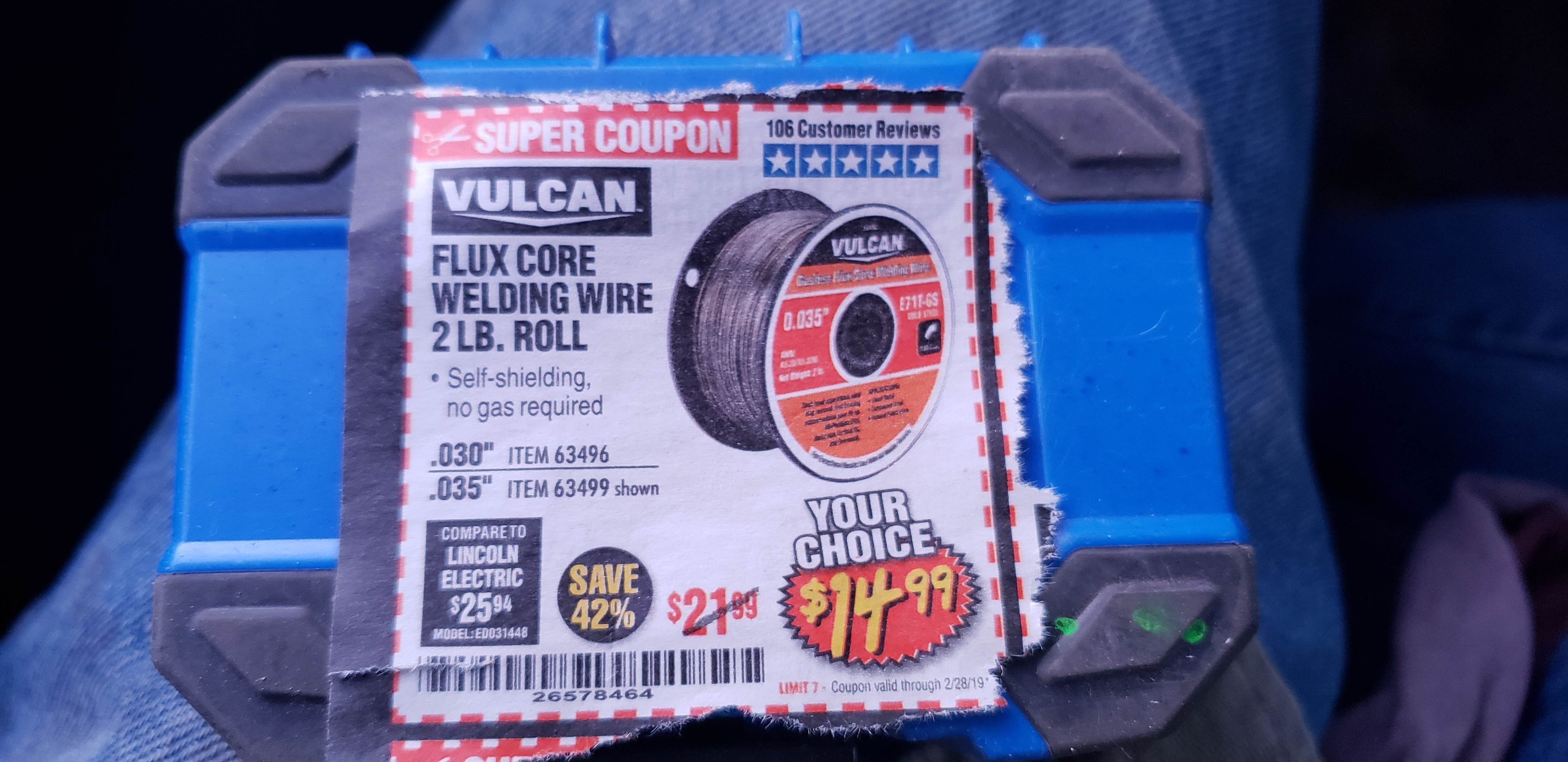www.hfqpdb.com - FLUX CORE WELDING WIRE Lot No. 63496/63499