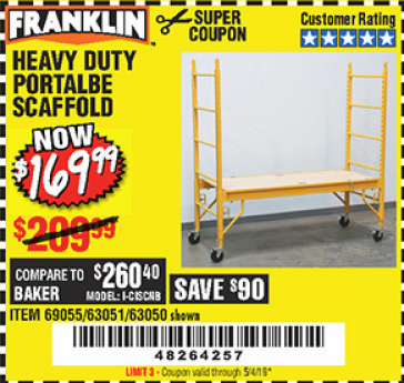 www.hfqpdb.com - HEAVY DUTY PORTABLE SCAFFOLD Lot No. 63050/63051/69055/98979