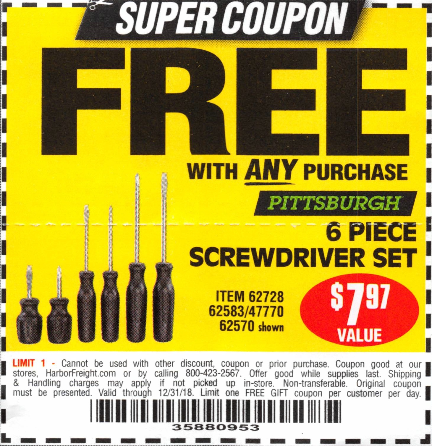 There are 12 Harbor Freight Tools discount codes for you to consider including 1 coupon code, and 11 sales. Most popular now: Save up to 70% off Sale & Clearance. Latest offer: Sign up for Harbor Freight Tools Emails and Receive Exclusive Offers and Latest News%(2K).