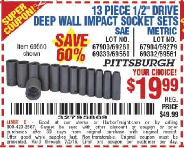 Deep discount coupons