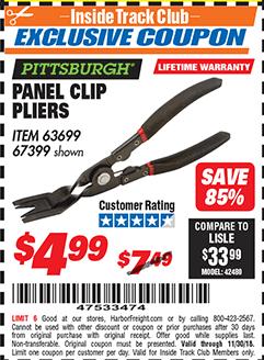 www.hfqpdb.com - PANEL CLIP PLIERS Lot No. 63699/67399