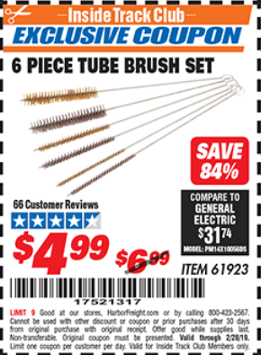 Harbor Freight 6 PIECE TUBE BRUSH SET coupon