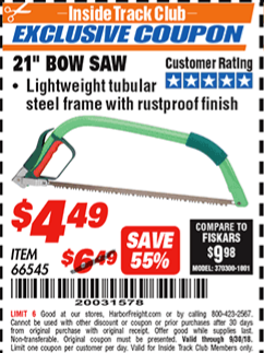 "www.hfqpdb.com - 21"" BOW SAW Lot No. 66545"