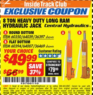 www.hfqpdb.com - 8 TON HEAVY DUTY LONG RAM HYDRAULIC JACKS Lot No. 36397/60350/36469/60394/64007