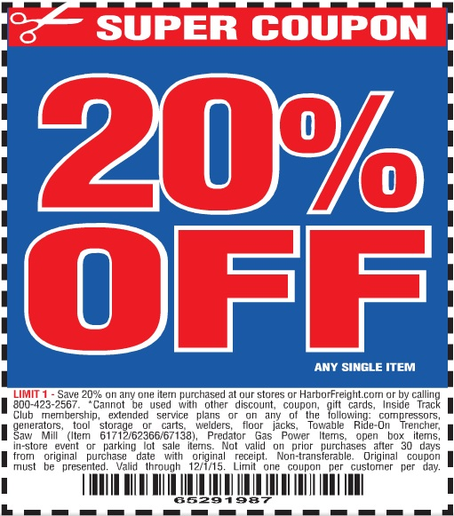 Harbor freight online coupon code
