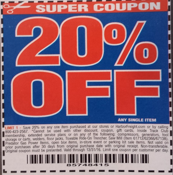 20 coupon for harbor freight tools - Wicked ticketmaster ...