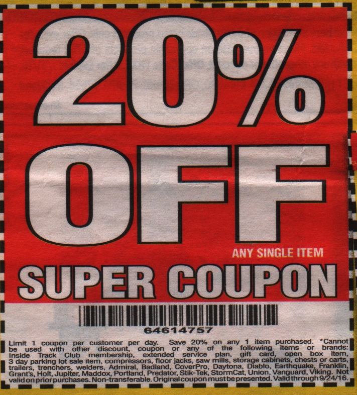 Harbor Freight Tools 20 Percent Coupon Cheap Holiday Deals Leaving